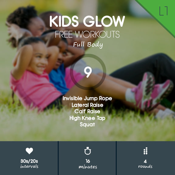 Full Body Indoor Workout for Kids - Limited Space & No Equipment for K-5