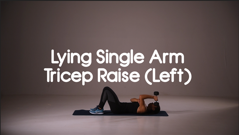 How to do lying single arm tricep raise hiit exercise