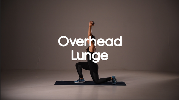 How to do overhead lunge hiit exercise