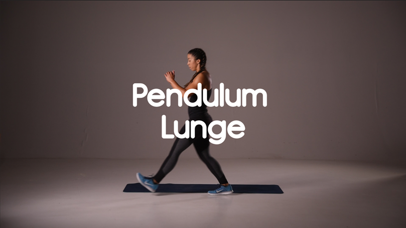 how to do pendulum lunge hiit exercise