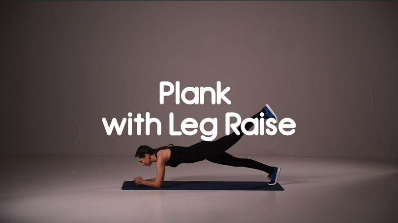 How to do plank with leg raise hiit exercise