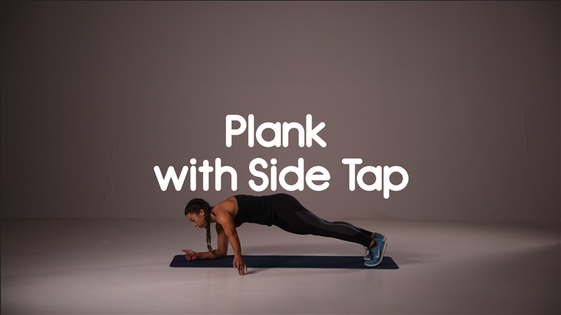 How to do plank with side tap hiit exercise