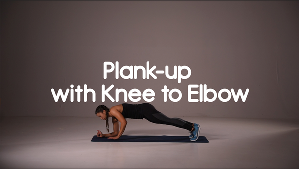 How to do plank up with knee to elbow hiit exercise