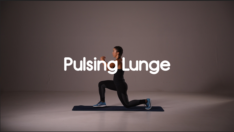 How to do a pulsing lunge hiit leg exercise