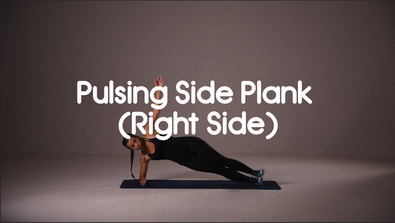 how to do pulsing side plank