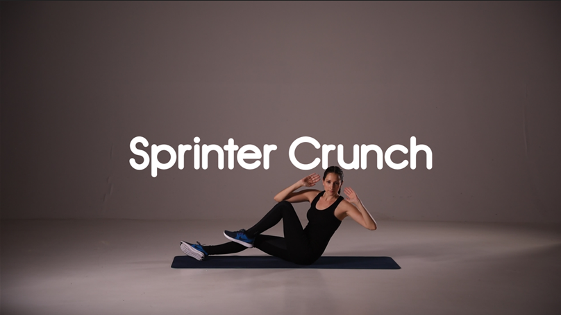 How to do sprinter crunch ab hiit exercise