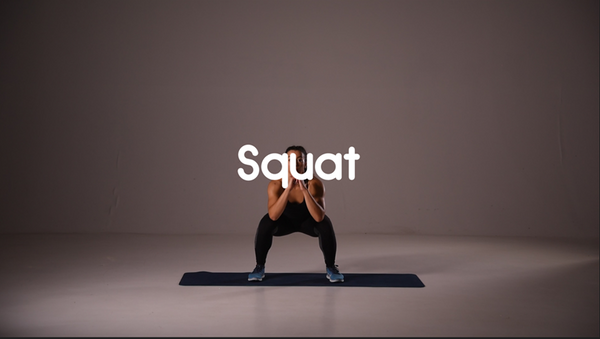 squat hiit leg exercise