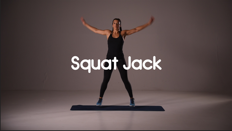How to do a Squat Jack HIIT Cardio