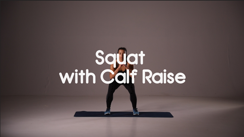 How to do squat with calf raise hiit exercise