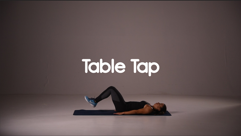 How to do table tap ab exercise