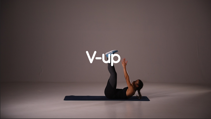 V-up hiit ab exercise