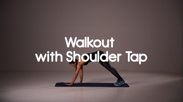 How to do walk out with shoulder tap hiit exercise