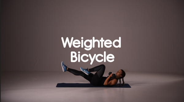 How to do weighted bicycle ab exercise