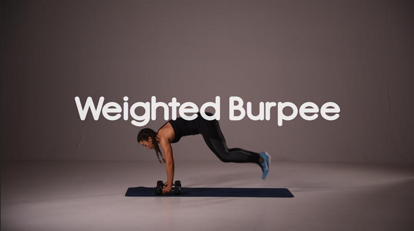 How to do weighted burpee hiit exercise