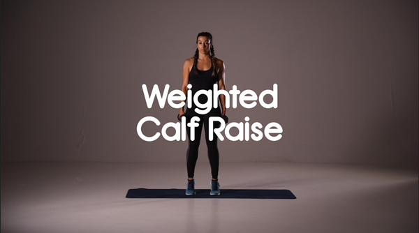How to do weighted calf raise hiit exercise