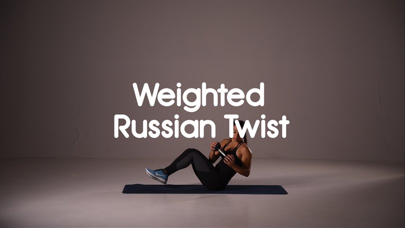 How to do weighted russian twist ab exercise