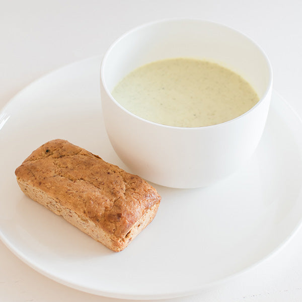 Broccoli & Leek Soup with Bread