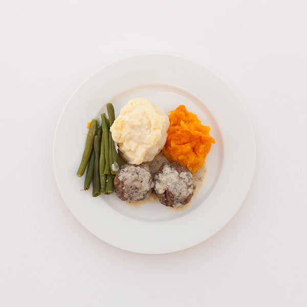 Meatballs and Vegetables