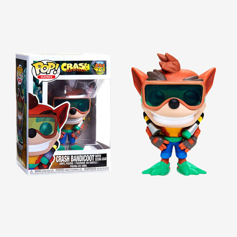 Crash Bandicoot -  Funko Pop - Crash Bandicoot with Scuba Gear