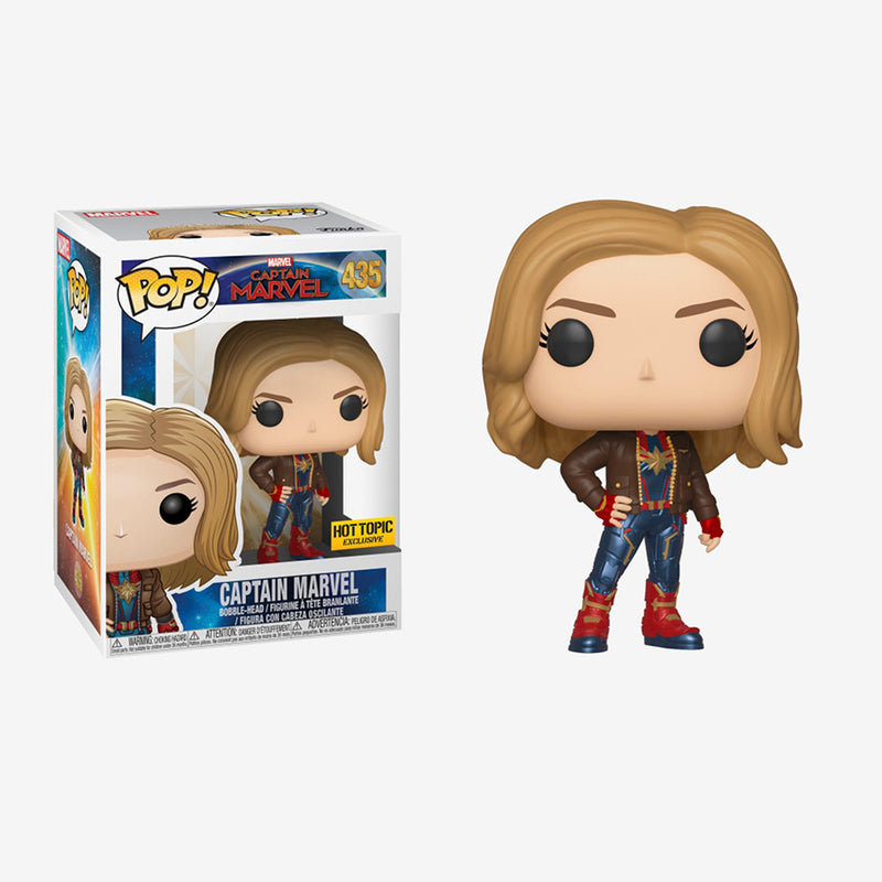 Captain Marvel - Funko Pop - Captain Marvel (with jacket) - Edición Limitada