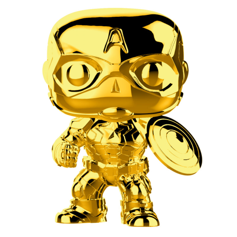 Marvel Studios - Funko Pop - Captain America (Gold Chrome)