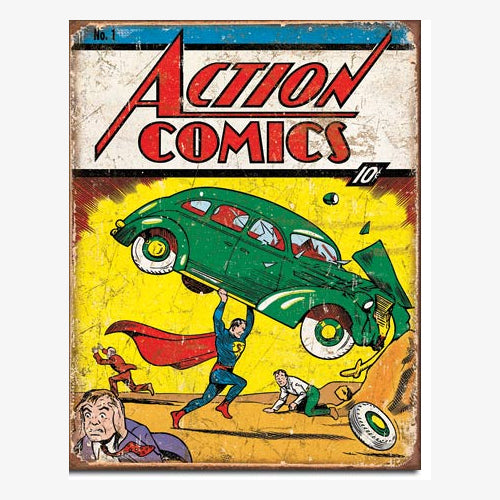 DC Comics - Poster Metálico - Action Comics #1: Superman First Appearance
