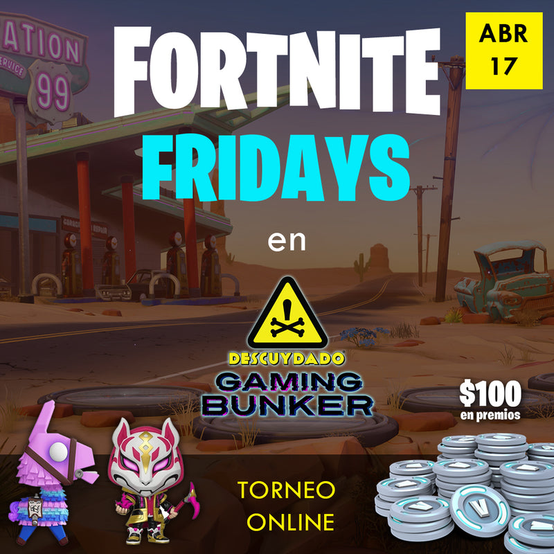"Ticket de Registración - Fortnite  Fridays ""Zone Wars"" - Abril 17 del 2020"
