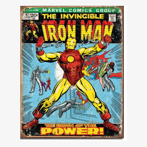 Marvel - Poster Metálico - The Invincible Iron Man  #47