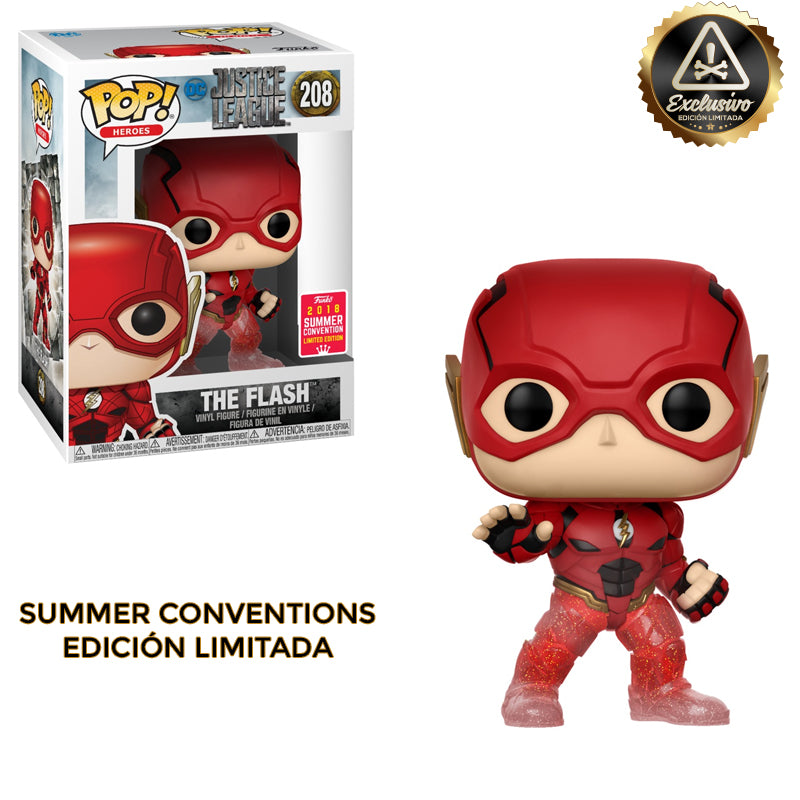 "Justice League – Funko Pop – The Flash - ""Comic Con 2018"" Edición Limitada - Preorden"