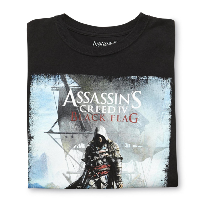 Assassin's Creed - Camiseta-  Black Flag - Hombre