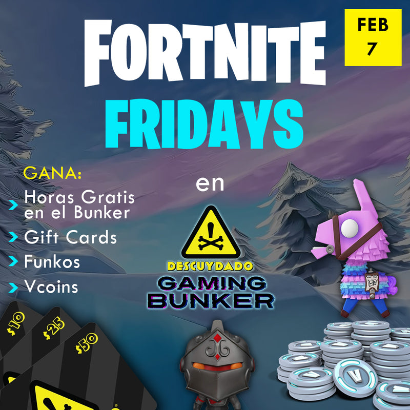"Ticket de Registración - Fortnite  Fridays ""Zone Wars"" - Febrero 7 del 2020"