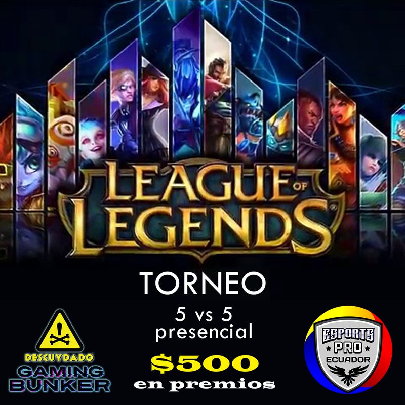 Ticket de Registración por Equipo - Torneo League of Legends - Febrero 2020