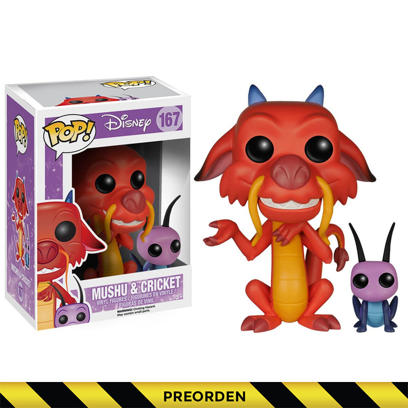 Disney - Funko Pop - Mulan - Mushu & Cricket - Preorden