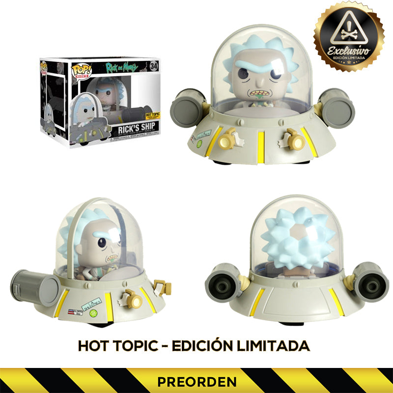 Rick and Morty -  Funko Pop - Rick's Ship - Edición Limitada -  Preorden