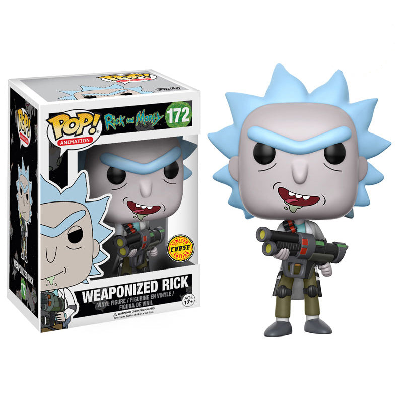Rick and Morty -  Funko Pop - Weaponized Rick - Edición Limitada - Chase