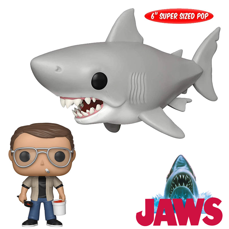 Jaws - Funko Pop - Set 2 figuras:  Chief Brody y Tiburón