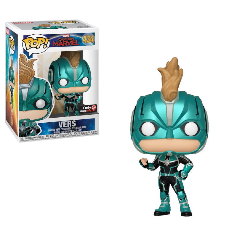 Captain Marvel - Funko Pop - Vers - Edición Limitada