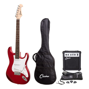 Casino ST Style Electric Guitar and 10 Watt Amplifier Pack - Candy Apple Red