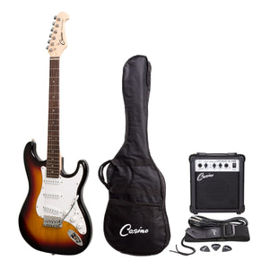 Casino ST Style Electric Guitar and 10 Watt Amplifier Pack - Sunburst