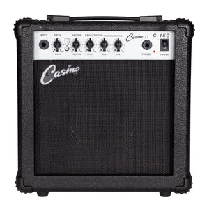 Casino TL Style Electric Guitar Set and 15 Watt Amplifier Pack - Sunburst