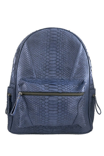 Navy Blue Bernard Python Backpack - art of shop  - 6