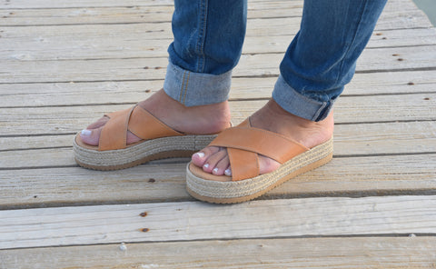 X Strap Espadrille Natural - art of shop  - 1