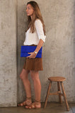 Electric Blue Henri Python Large Clutch - art of shop  - 2