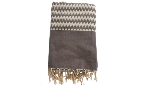 Fouta chevron zigzag – Grey - art of shop