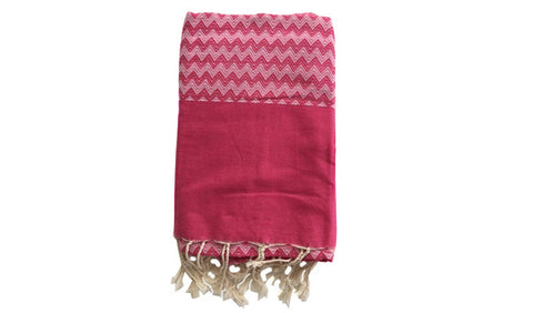 Fouta chevron zigzag – Pink - art of shop