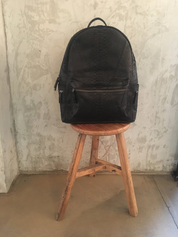 Black Bernard Python Backpack - art of shop  - 4