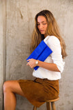 Electric Blue Leon Python Mini Clutch - art of shop  - 3