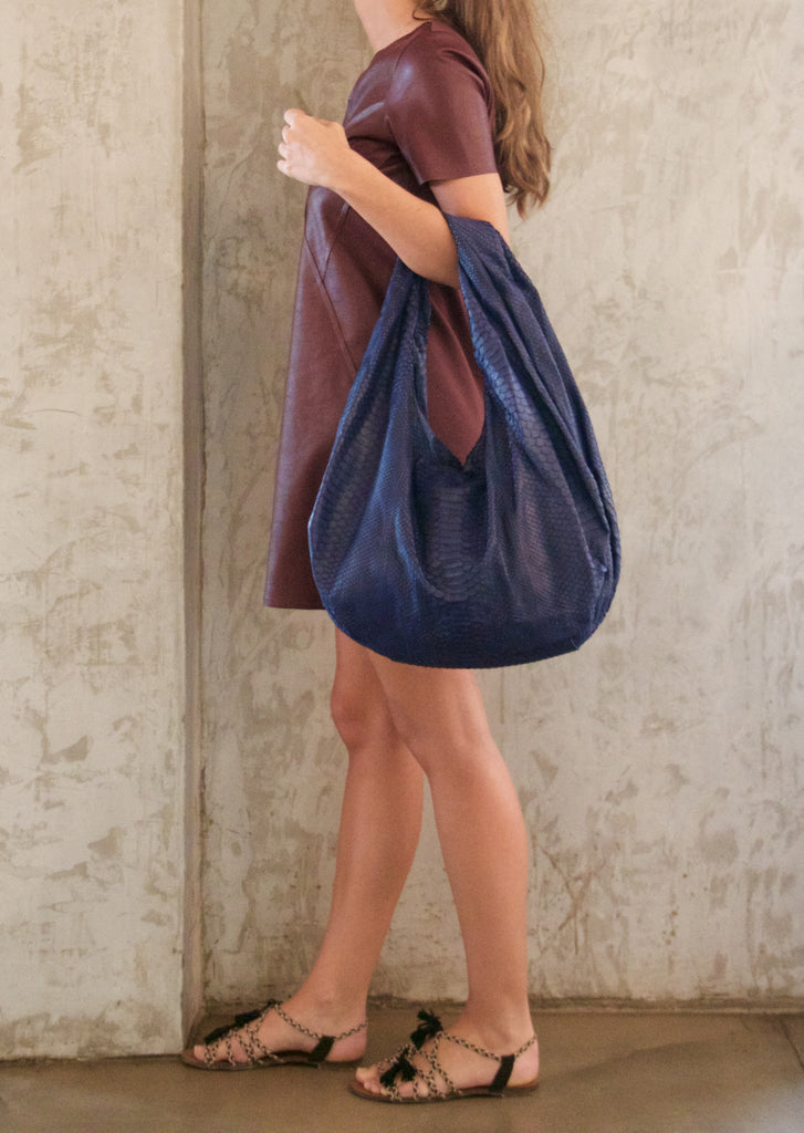 Navy Blue Marceau Bag - art of shop  - 2