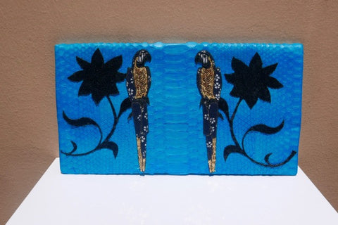 Blue Parrots Large Clutch customized by Fedri
