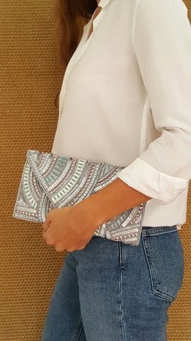 Silver Pearl Clutch - art of shop  - 1